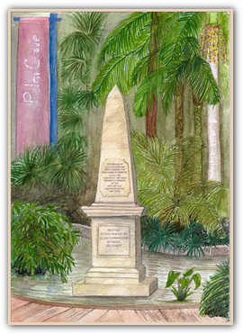 Allan Cunningham's Memorial Obelisk at the Royal Botanic Gardens Sydney