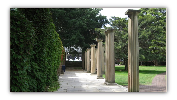The Subiaco Columns at the Uni of NSW Sydney