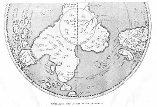 WYTFLIET'S MAP OF THE TERRA AUSTRALIS